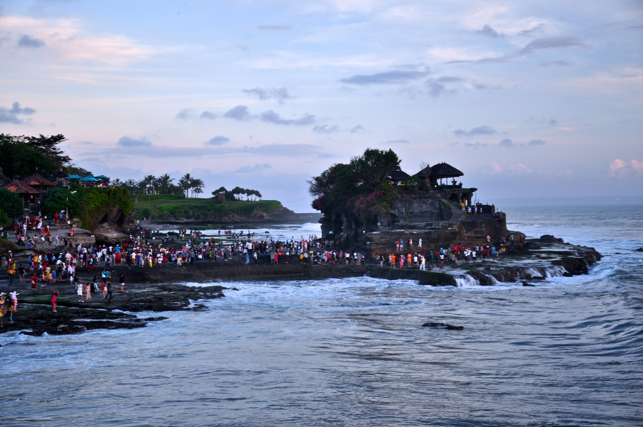 Indian Ocean Surfing & a Balinese Sunset by a Temple