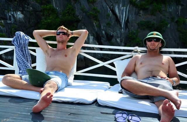 Luke & Will on Boat