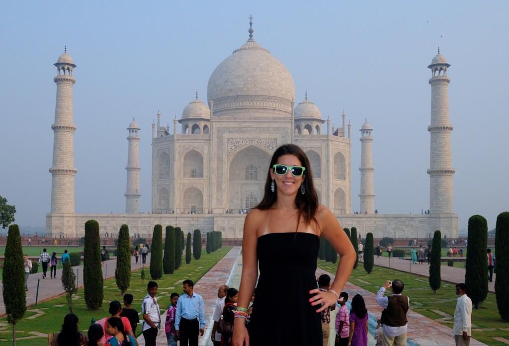Beth at Taj Mahal