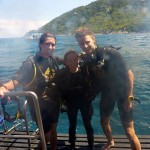 New Advanced Divers with Dive Master Jen