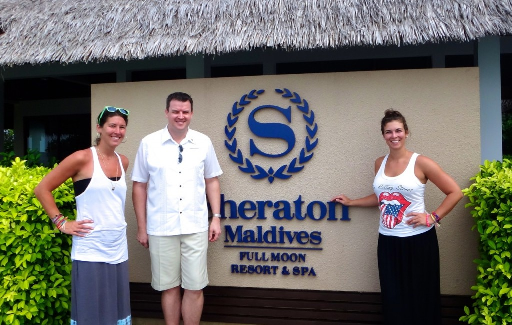 With Peter of the Sheraton Maldives