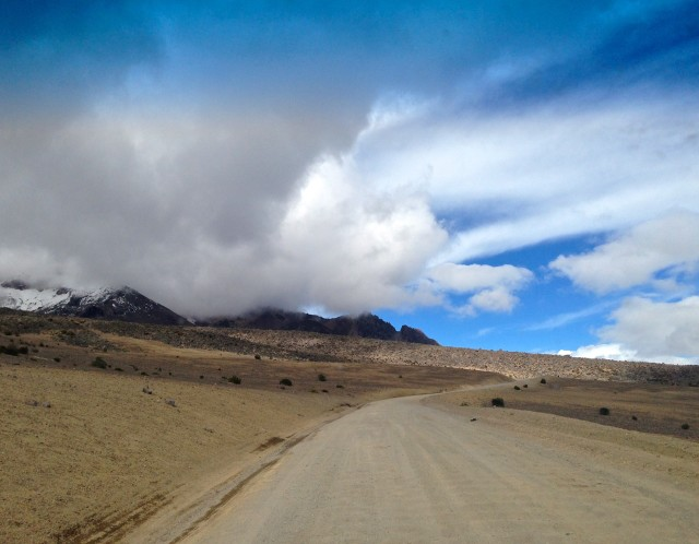 Driving to Chimborazo