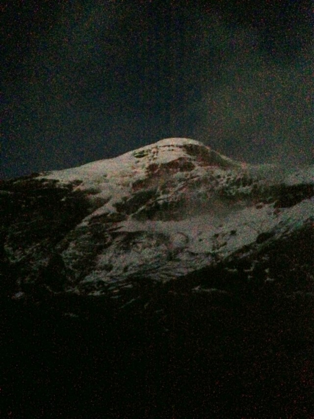 Chimborazo at night (photo doesn't do it justice)