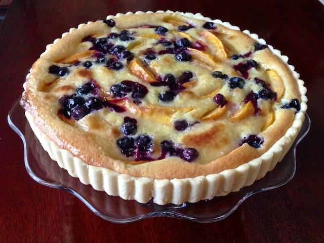 Peach & Blueberry Tart