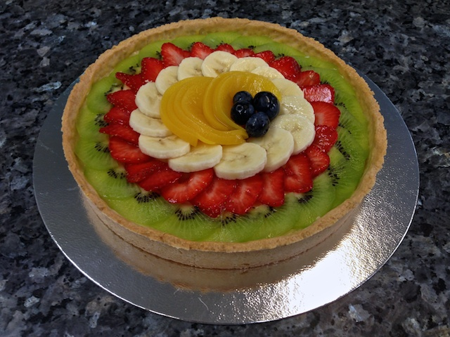 Pre-glaze fruit tart