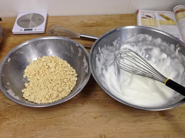 Dough & egg whites