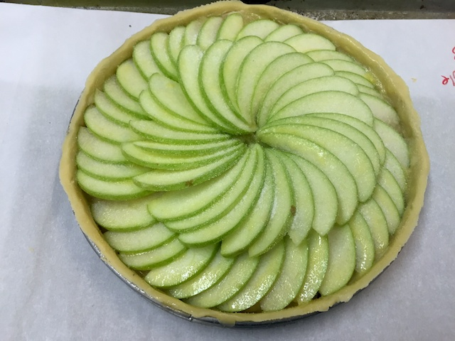 French Apple Pie pre-bake