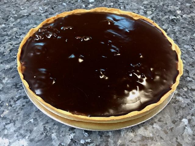 Dark Chocolate Coffee Caramel Walnut Tart
