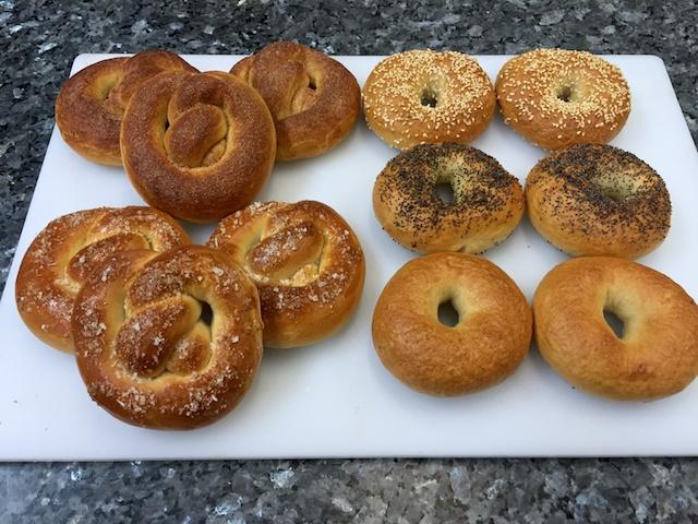 Pretzels & bagels to present