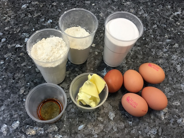 genoise sponge ingredients