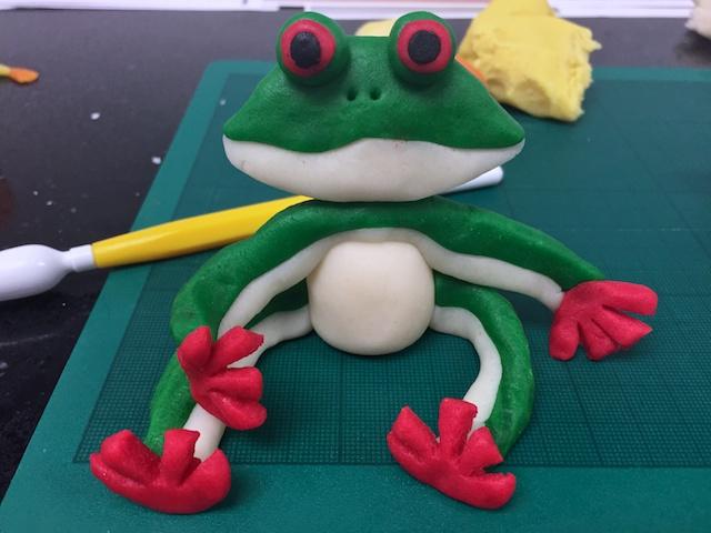 Marzipan Frog