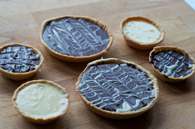 Dark & White Chocolate Tarts