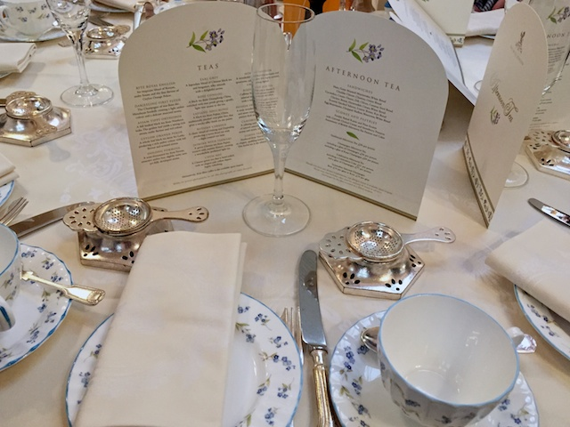 The Ritz Afternoon Tea Table Setting