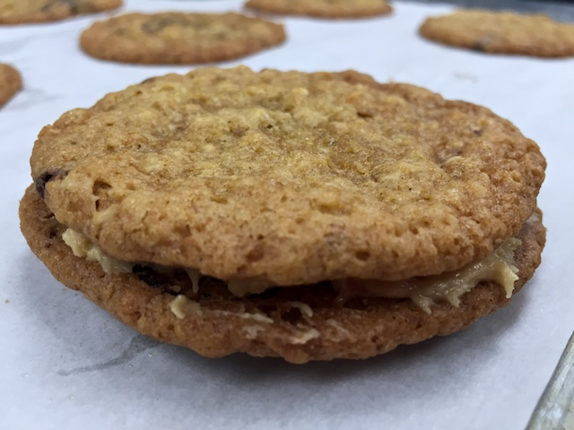 Goober cookie with peanut butter frosting