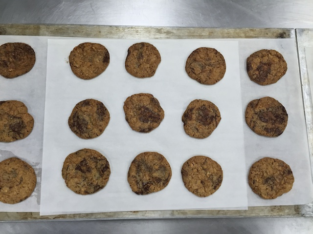 Chocolate chip hot from the oven