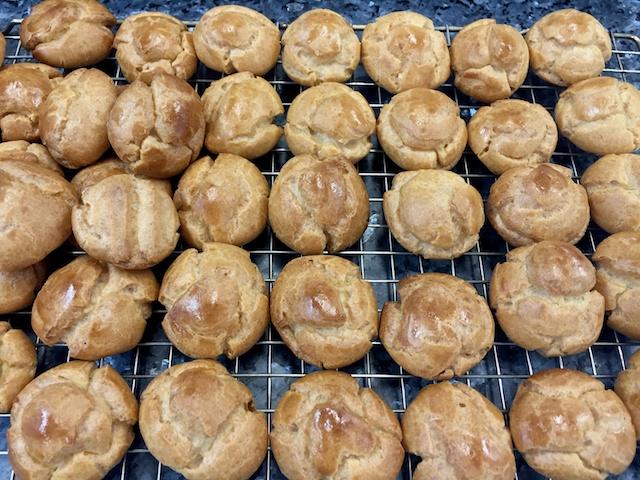 Choux pastry balls