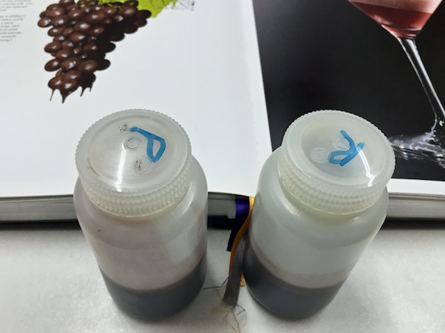 Port and red after centrifuge