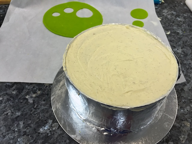Finishing off with the marzipan topper