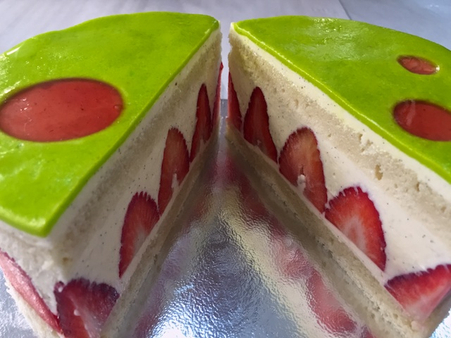 Gâteau Fraisier inside