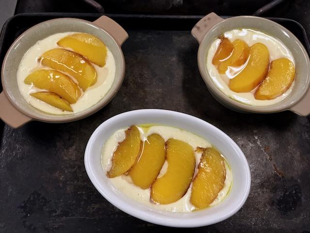 Recipe development: mini grilled peach cobblers