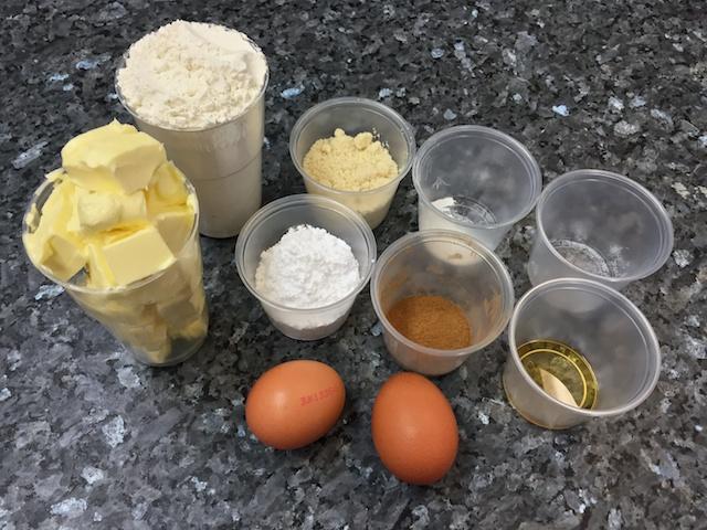 Cinnamon pastry ingredients