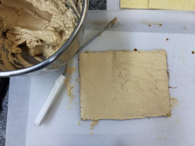 Coffee buttercream layer