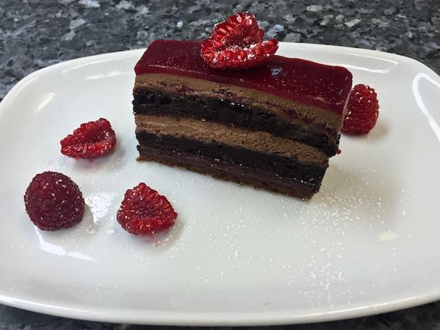 Raspberry Delice slice