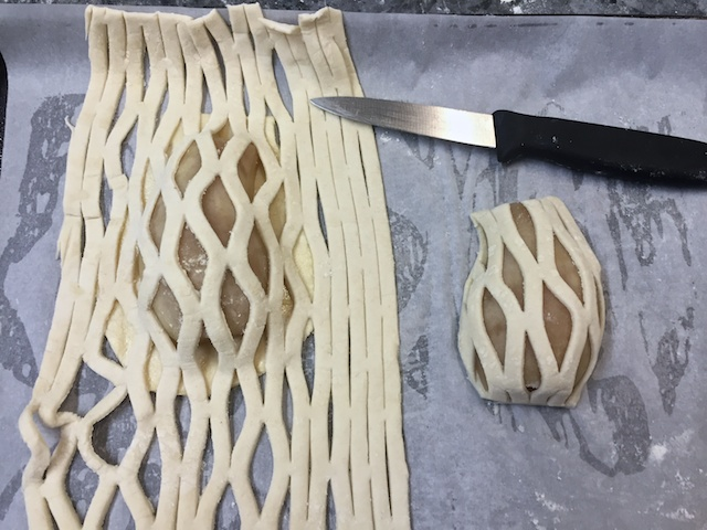 Caging the pear tart