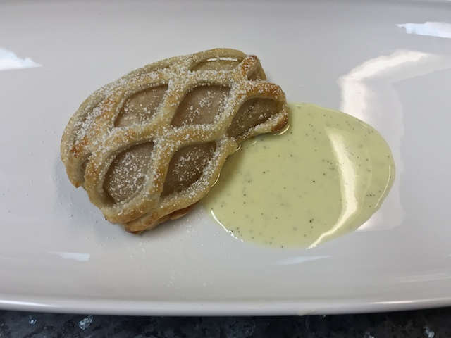 Pear Tart in a puff pastry cage
