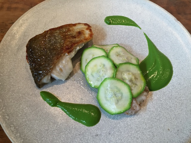 Roasted Cornish Cod with Jersey Royals, Courgette & Mint