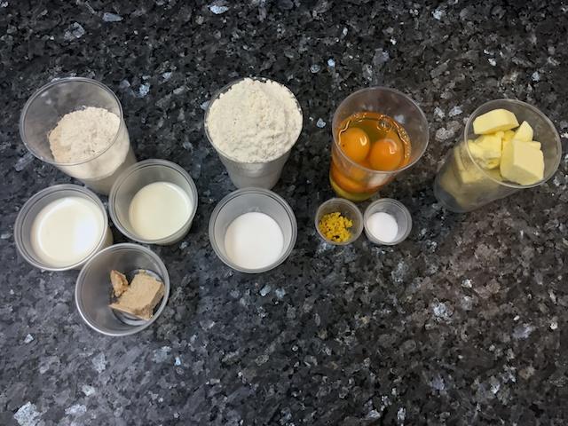 Rum baba ingredients