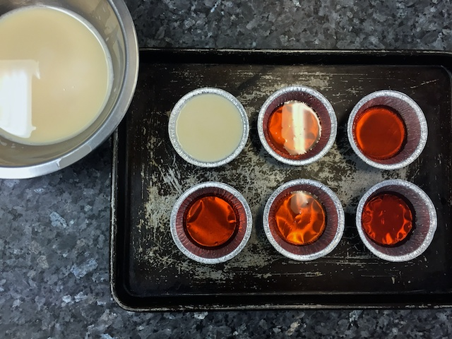 Crème caramel assembly