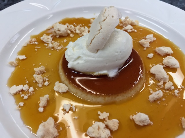 Plated Crème Caramel