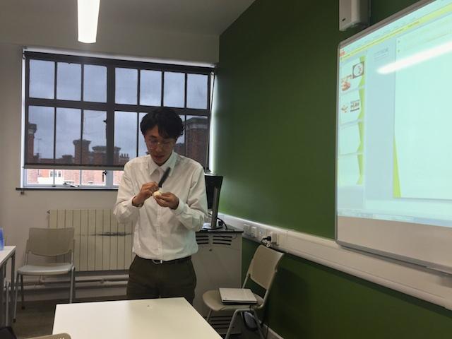 Choi presenting