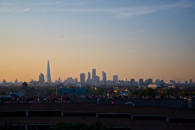 View from Bussey Building Rooftop Film Club