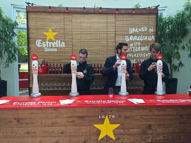 Refreshing Estrella Damm beers