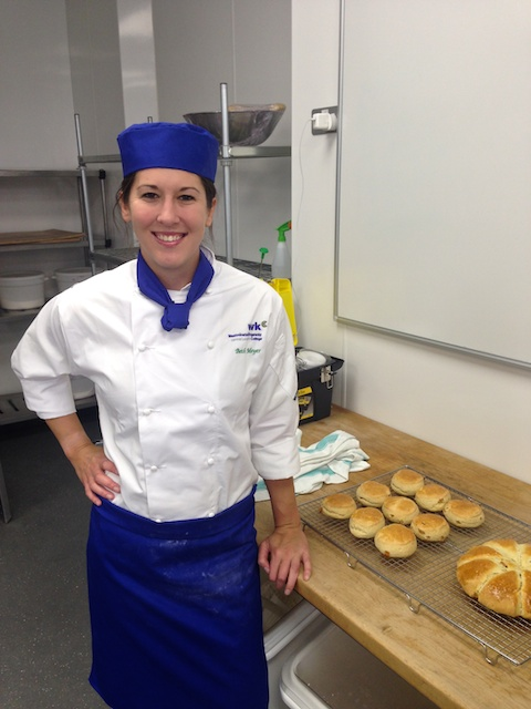 Friday in the bakery after my first week of school! :)
