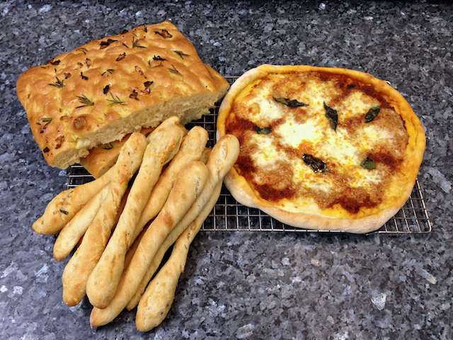 Breadsticks, pizza & focaccia
