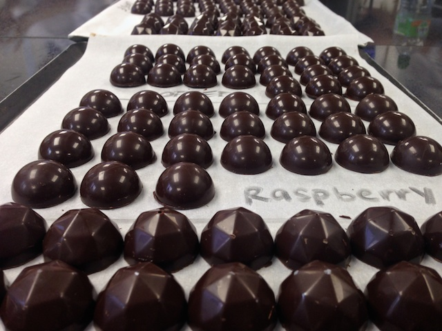 Our first batch of chocolates!