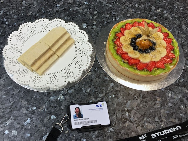 Patisserie exam #1: shortbread biscuits (cookies) & fruit tart (#2)