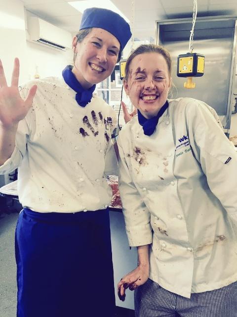 Jennie & my cocoa powder 'dust' up ;)