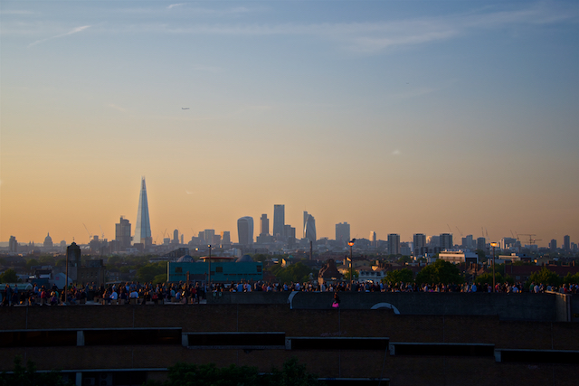 London Sunset from Bussey Building