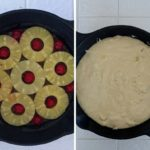 Pineapple Upside Down Cake Assembly