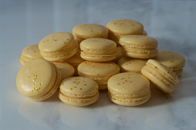 Champagne Lemon Oscar Macarons