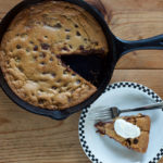 Chocolate Chip Cookie Pie with Dulce de Leche