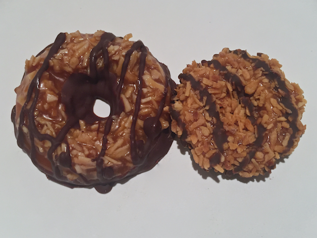 Homemade Samoas Side by Side with Samoas