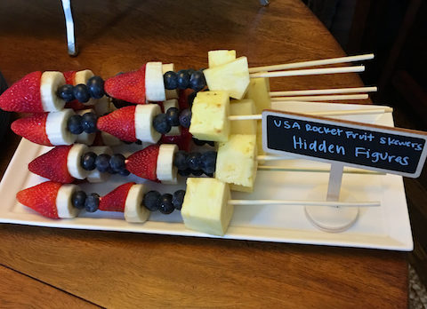 Hidden Figures Rocket Ship Fruit Skewers
