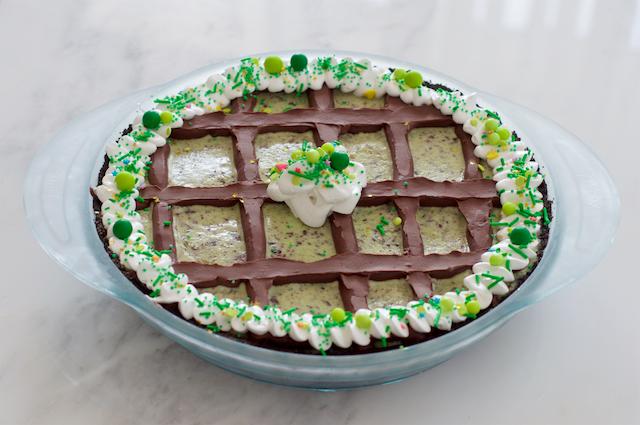 Mint Chocolate Chip Grasshopper Pie